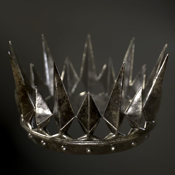 Old Medieval Dark Crown