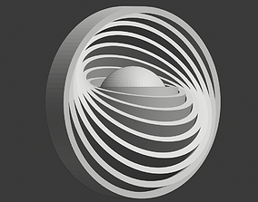 3D printable model Sphere with rotated concentric rings
