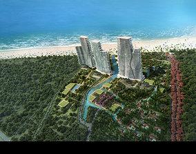 3D Hotel building 012