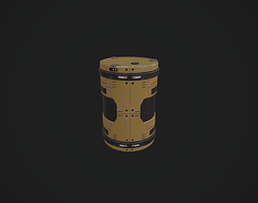 3D asset low-poly Barrel space