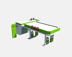 3D model low poly garage