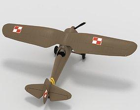 Very simple PZL P11c Polish Air Force 3D model