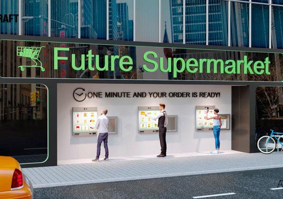 Design of future supermarket (store)