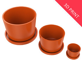 3D printable model Vase With Plate for Plant 01 with 3 1