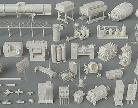 3D kitbash Factory Units-part-6 - 48 pieces