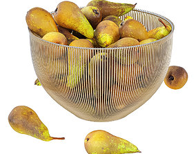 Pear Conference in Decorative Metal Vase 3D
