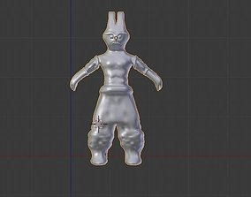 3D model man warrior