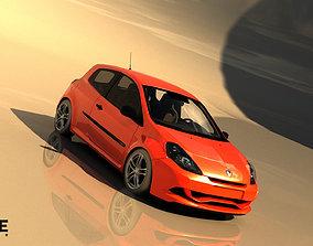 3D asset 2010 Renault Clio Renault Sport 200 Cup