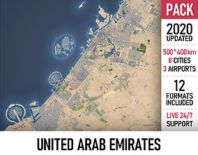3D model United Arab Emirates - UAE - all cities and