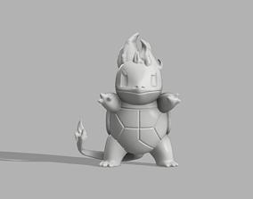 Scorchtle Fire Squirtle 3D printable model