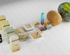 Different Food Products Assets 3D