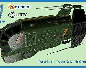 3D asset Spaceship Patriot Type 2 Dark Green