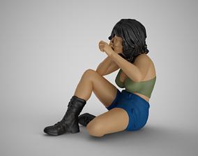 3D print model Investigator Woman