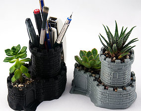 Multipurpose Castle Planter - Tower Pen 3D print model 4