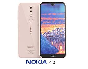 3D model Nokia 4 2 Pink Sand