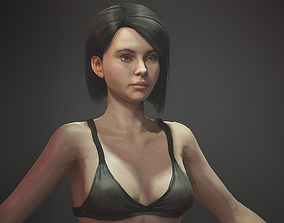 3D model rigged High Quality Textured Female Base Mesh