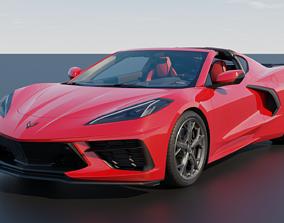 low-poly Chevrolet Corvette C8 2020 Stingray outroof 3D