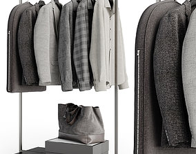 3D Rack with clothes 01