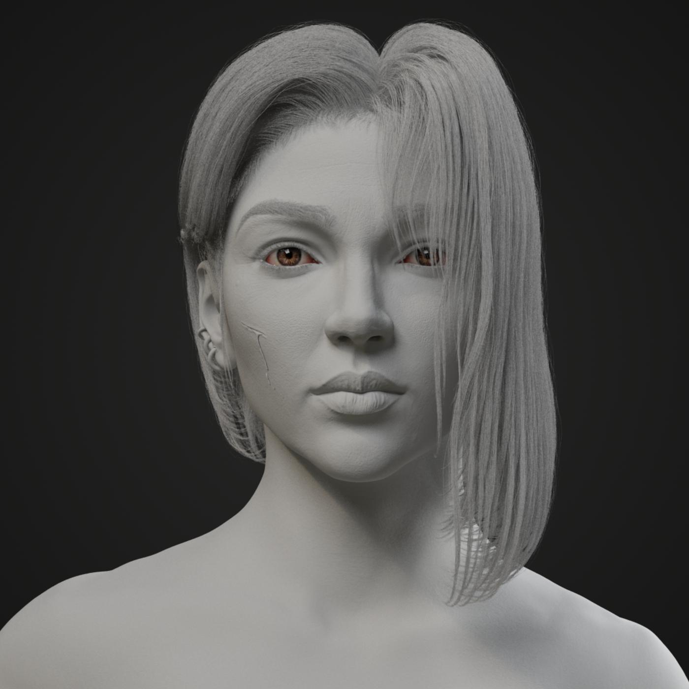 Photorealistic Warrior Girl