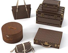 Louis Vuitton Bags set 3D model