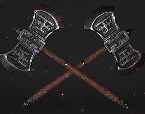 Cult Double-sided Battleaxe 3D model