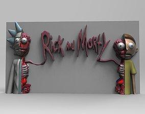 Rick and morty statue 3D print model