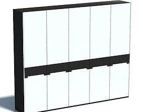 White Modern Cabinet Black Trim 3D model