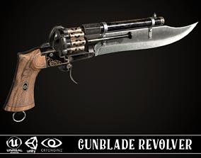 Gunblade Revolver Dark 3D model