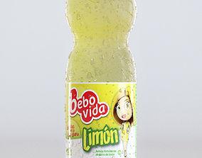 3D 500ml Plastic Bottle - Lemon