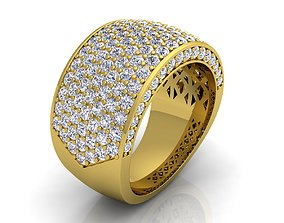 Luxury Mans Ring 3D print model