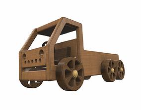 3D model Wooden car toy truck 1