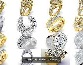 3D wedding 15 Mens Ring Collection