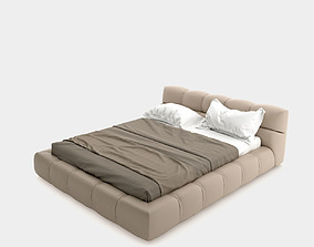 3D Modern leather bed
