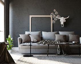 3D Simple Interior Scene - Corona - Redshift