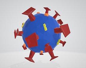 COVID-19 Low poly 3D asset