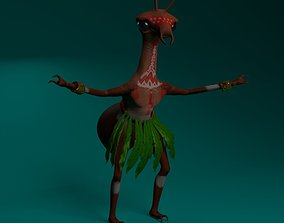 3D model Ant Shaman Low Poly