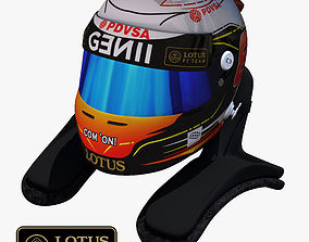 3D model Romain Grosjean Helmet 2015