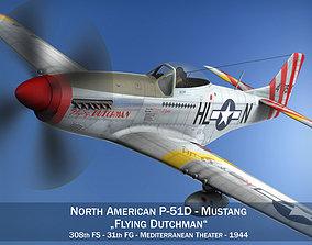 3D model North American P-51D - Flying Dutchman