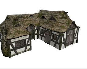 Medieval Farm House 3D model