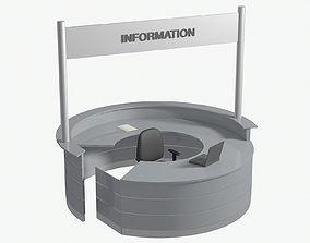 3D Circular counter Desk