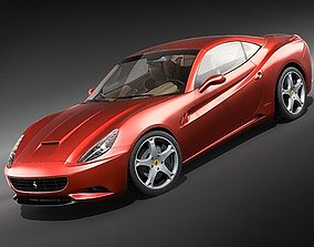 3D model Ferrari California Sports Car Convertible