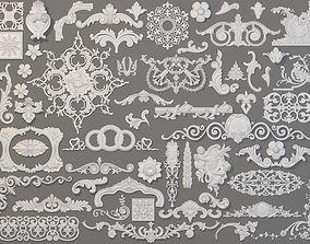 3D Carved Elements Collection -3 - 58 pieces