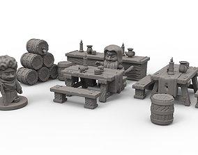 tavern decorations 3D print model