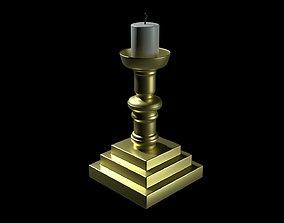 3D asset Church Candle V2