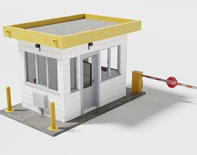 3D asset Security guard booth
