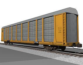 3D Autorack Train Car - BNSF Gold