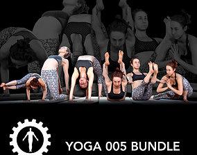 adult Yoga 005 Bundle 3D model