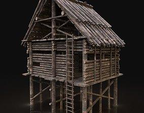NEXT GEN AAA Forest Wooden Watchtower House 3D model 2
