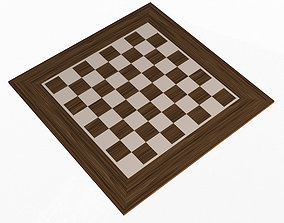Chess Board 3D model realtime chess-board