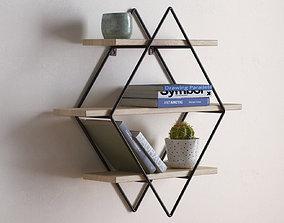3D model Diamond Cross Planes Shelf
